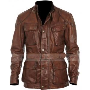 Brad Pitt Benjamin Button Leather Jacket
